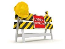 Sob o corte de estrada da construção Imagem de Stock