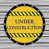 Sob o indicador da construção Imagem de Stock Royalty Free