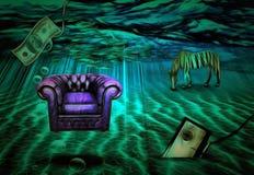 Sob o mar ilustração stock