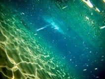 sob o mar em Itália foto de stock