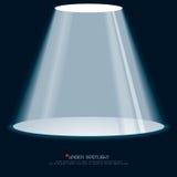 Sob o projector azul Foto de Stock
