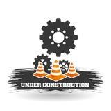 Sob o projeto da construção ilustração do trabalho Repare o ícone Fotografia de Stock