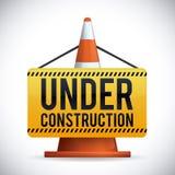 Sob o projeto da construção, ilustração do vetor Imagem de Stock
