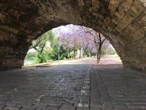 Sob o Puente de Isabel II Ponte Imagem de Stock Royalty Free