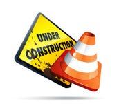Sob o sinal da construção Imagem de Stock Royalty Free