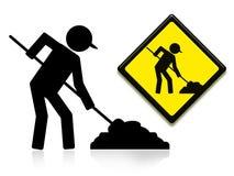 Sob o trabalhador da construção Foto de Stock Royalty Free