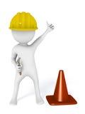 Sob o trabalhador manual do construtor da construção Fotos de Stock Royalty Free