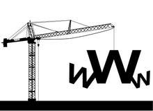 Sob o Web da construção Fotos de Stock