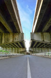 Sob a ponte Fotografia de Stock Royalty Free