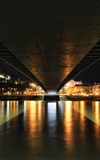 Sob a ponte Fotografia de Stock