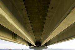 Sob a ponte da ilha de Sanibel Foto de Stock Royalty Free