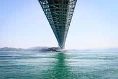 Sob a ponte de Naruto, Tokushima Japão Foto de Stock
