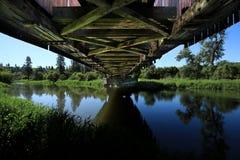 Sob a ponte em rural em Palouse Washington Fotografia de Stock