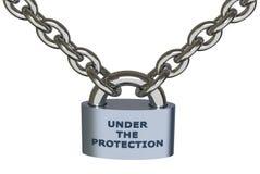 Sob a proteção ilustração do vetor