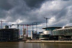 Sob quays do salford da construção Fotografia de Stock Royalty Free