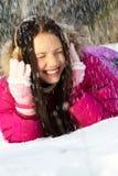 Sob a queda de neve imagens de stock royalty free
