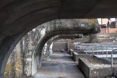 Sob a represa da cidade Fotos de Stock Royalty Free