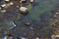 Sob rochas da água Imagem de Stock