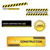 Sob sinais da construção Imagens de Stock Royalty Free