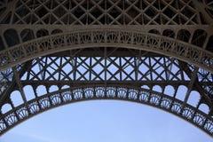 Sob a torre Eiffel Fotografia de Stock