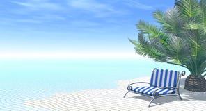 Sob uma palmeira Imagem de Stock Royalty Free