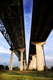 Sob uma ponte Fotografia de Stock