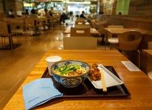 Soba晚餐 免版税库存照片
