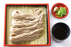 Soba. Japanese traditional Backwheat noodle called soba Royalty Free Stock Images