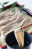 Soba. Japanese traditional Backwheat noodle called soba Stock Image