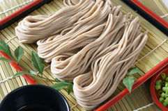 Soba. Japanese traditional Backwheat noodle called soba Stock Images