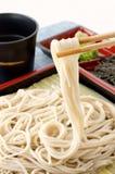 Soba. Japanese traditional Backwheat noodle called soba Royalty Free Stock Image