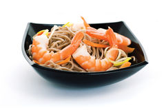 Soba And Shrimps Stock Photo