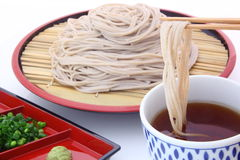 Soba, buckwheat noodles Stock Photography