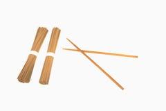 Soba and chopsticks Royalty Free Stock Photo
