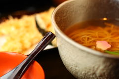 Soba Cup With Tempura Royalty Free Stock Photo