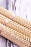 Soba. Japanese soba noodles vertical close-up image Stock Images