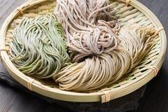 Soba japonés de los tallarines Imagen de archivo libre de regalías