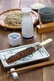 Soba miso, japansk mat royaltyfri foto