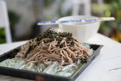 Soba noodle. In close up stock images