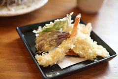 Soba noodle with fried shrimp stock images