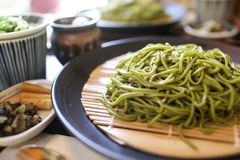 Soba noodle Stock Photo
