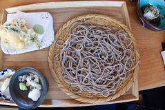 Soba Noodle Plate stock photography