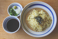 Soba noodle in a seaweed Stock Photography
