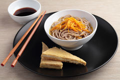 Soba noodle soup Stock Photos