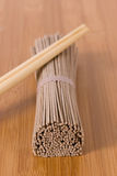 Soba noodles Stock Photo