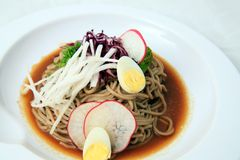 Soba noodles japanese food Royalty Free Stock Image