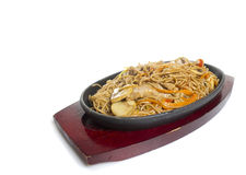 Soba noodles with seaweeds Stock Image