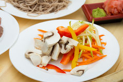 Soba noodles Stock Photo