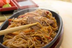 Soba noodles Stock Image