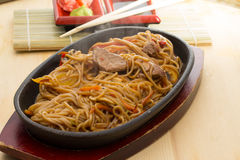 Soba noodles Stock Images